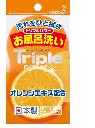 【送料無料】キクロン キクロン トリプルパワー オレンジスポンジ お風呂洗い×120点セット まとめ買い特価!ケース販売 ( 4548404300174 )