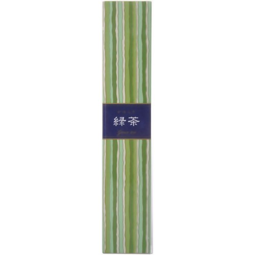【送料込】日本香堂 かゆらぎ 緑茶 40本入 香立付 燃焼時間:約25分 清涼でなめらかな緑茶の香り×288点セット まとめ買い特価!ケース販売 ( 4902125384538 )