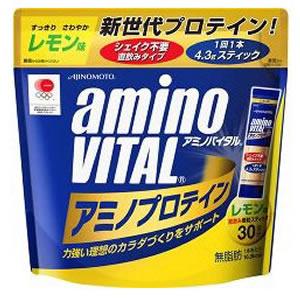 【送料込】味の素 アミノバイタル プロテイン レモン風味 30本入り×10点セット まとめ買い特価! シェイク不要の直飲みタイプ ( 4901001212767 )