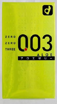 【送料無料・まとめ買い×144】オカモト ゼロゼロスリー 003 アロエゼリー 10個入×144点セット ( コンドーム 0.03ミリ )  まとめ買い特価!ケース販売 ( 4547691689603 )