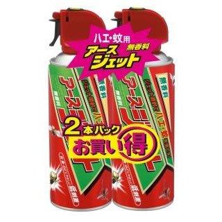 """アースジェット 450ml×2本 は 優れた殺虫効果の""""ハエ 蚊用エアゾール"""" ジェット噴射の速攻性と拡散性で 素早いハエやしつこい蚊も手軽に駆除できる殺虫剤 送料無料 まとめ買い×3 無香料 豊富な品 アース製薬 4901080160515 ハエ 蚊用エアゾール ×3点セット 新作製品、世界最高品質人気!"""