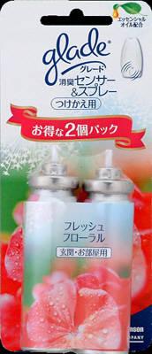 【送料無料】ジョンソン グレード 消臭センサー&スプレー 玄関・お部屋用 フレッシュフローラル つけかえ用 2個パック フルーツの甘さがほんのり。華やかでやさしいフローラルの香り×20点セット まとめ買い特価!ケース販売 ( 4901609002500 )