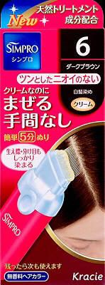 쿠라시에신프로원탓치 무향료 헤어 칼라 6 80 g×10점 세트★정리해 구매 특가! ( 4901417634085 )