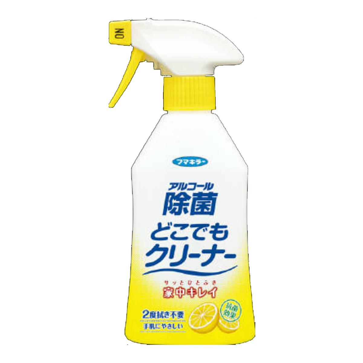 【P5倍】様々な汚れ、バイ菌をこれ1本でスッキリ落とす除菌スプレーです。バイ菌の増殖をおさえて、清潔をキープします 4902424433876 フマキラー アルコール除菌 どこでもクリーナー 300ml (除菌スプレー)( 4902424433876 )
