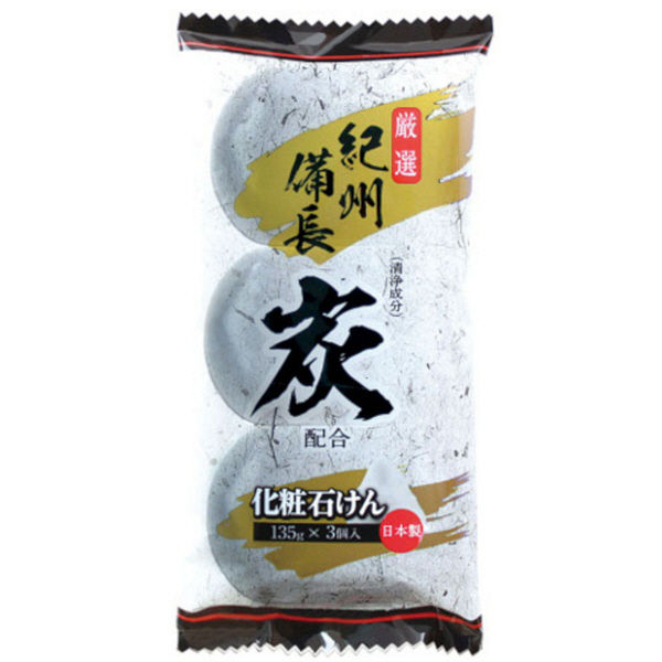 Max Kishu binchotan charcoal soaps 135 g × were 3 pieces Pack soothing smells Woody floral fragrance x 5 pieces (4902895025341)