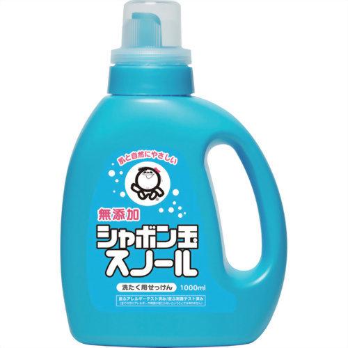 肌と自然にやさしい無添加の衣類用環境洗剤 日本未発売 エコ洗剤 です 液体タイプ 赤ちゃんやお肌の敏感な方にも安心してお使いいただけます シャボン玉石けん 特価品コーナー☆ 無添加石鹸 4901797032013 シャボン玉スノール 無添加 1000ml