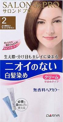 Dariya Salon de Pro hair color non smell early tinted cream 2 (lighter Brown)