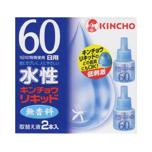【送料無料】大日本除虫菊 水性キンチョウリキッド 60日 無香料 取替え液 2個入×30点セット まとめ買い特価!ケース販売 ( 4987115230965 )