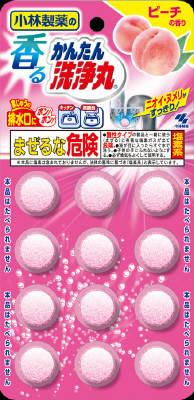 【送料無料】小林製薬 香るかんたん洗浄丸 ピーチの香り 12錠×81点セット まとめ買い特価!ケース販売 ( 4987072029022 )