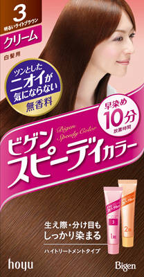 【送料無料】ホーユー ビゲン スピーディカラークリーム 3 ( 明るいライトブラウン ) ×27点セット まとめ買い特価!ケース販売 ( 4987205041136 )