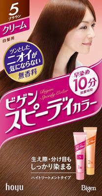 【送料無料】ホーユー ビゲン スピーディカラークリーム 5 ( ブラウン ) ×27点セット まとめ買い特価!ケース販売 ( 4987205041167 )