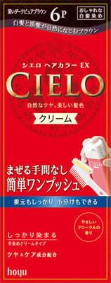 【送料無料】【ヘアケア特売】ホーユー シエロ ヘアカラーEX クリーム 6P ( 深いダークピュアブラウン ) 内容量: ( 1剤 ) 40g、 ( 2剤 ) 40g ワンプッシュ式クリームタイプの女性用白髪染め×27点セット まとめ買い特価!ケース販売 ( 4987205284748 )