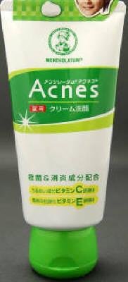 【送料無料】ロート製薬 メンソレータム アクネス薬用クリーム洗顔 130g×48点セット まとめ買い特価!ケース販売 ( 4987241125166 )