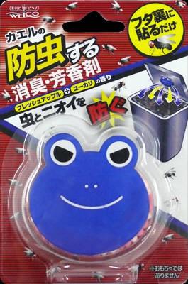 【送料無料】ウエ・ルコ カエルの生ゴミ防虫剤フレッシュアップル ゴミ箱用消臭・芳香剤×120点セット まとめ買い特価!ケース販売 ( 4995860511291 )