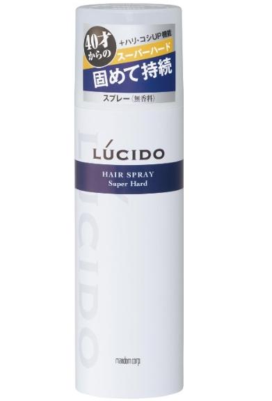 ルシード ヘアスプレー スーパーハード 180g 湿気の多い日もくずれない 世界の人気ブランド 強力キープヘアスプレー LUCIDE 4902806451917 マンダム 40歳からのヘアースプレー 海外 180G 本体