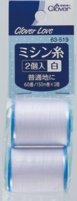 送料無料 まとめ買い×5 クロバー CL63519 ミシン糸 キャンペーンもお見逃しなく 2個入 白 ×5点セット 商舗 4901316635190 2コ 60番