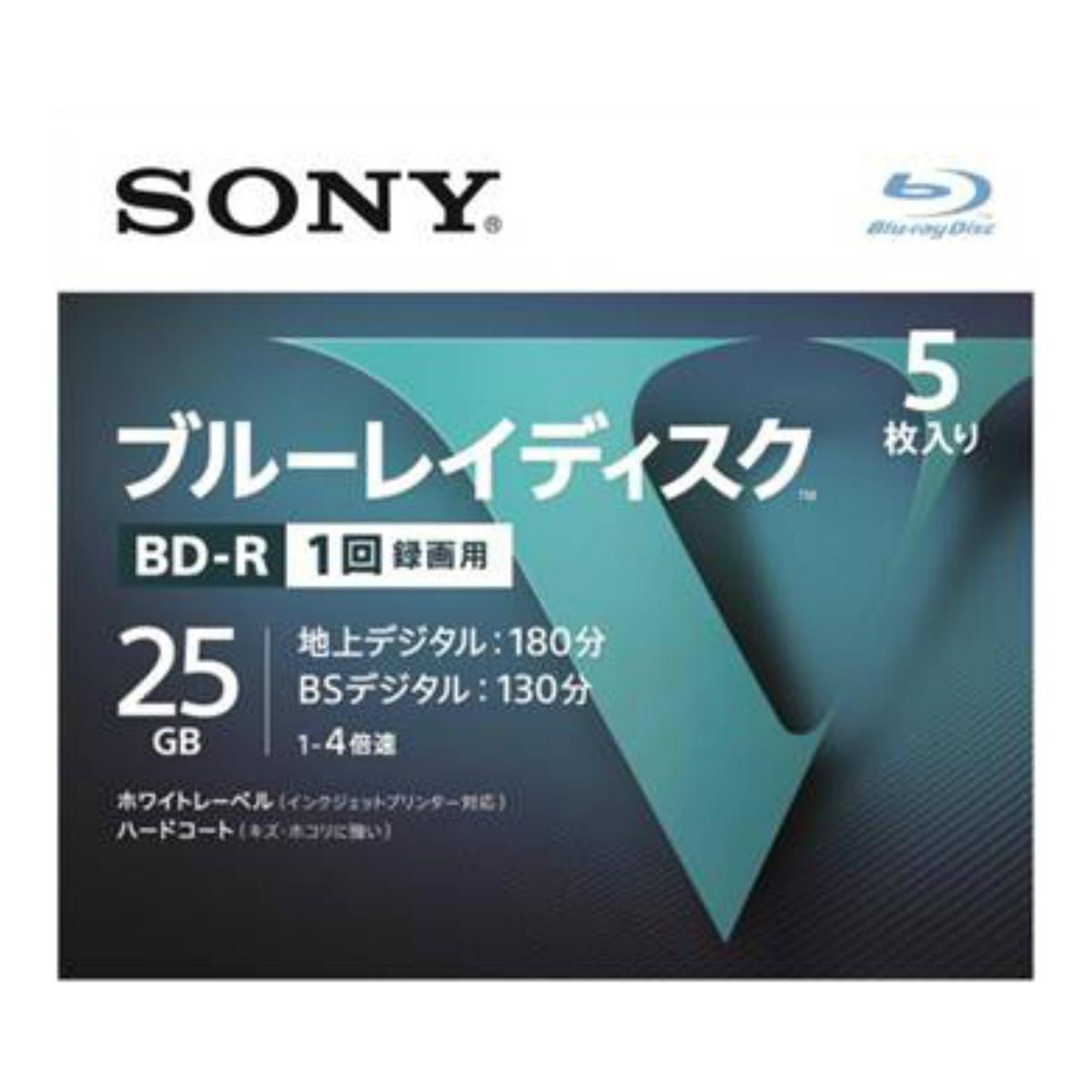 【送料込・まとめ買い×024】ソニー ブルーレイディスク R4倍速1層 Vシリーズ 5BNR1VLPS4 5枚入 ×024点セット(4548736037229)