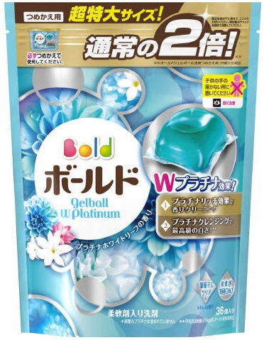 P & G bold gerbal W Platinum Platinum white leaf scent refill for extra-large size 36 coins into (laundry detergent refill) (4902430711401)