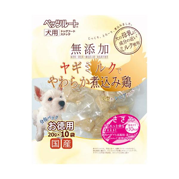 ペッツルート 無添加煮込み鶏ささみお徳用20G×10袋  ( 4984937682439 )