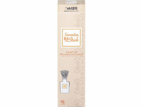 【送料無料・まとめ買い×070】小林製薬 Sawaday サワデー 香るStick スティック 詰め替え用 70ml パルファムスパークリング ゴールド (消臭芳香剤 つめかえ)×070点セット(4987072044667)