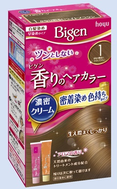【送料無料・まとめ買い×027】ホーユー ビゲン 香りのヘアカラー クリーム 1 かなり明るいライトブラウン  ×027点セット(4987205051357)