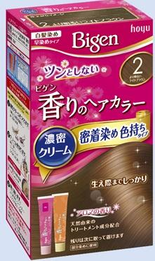 【送料無料・まとめ買い×027】ホーユー ビゲン 香りのヘアカラー クリーム 2 より明るいライトブラウン  ×027点セット(4987205051364)