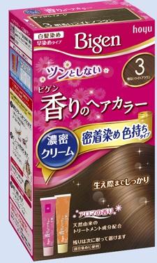 【送料無料・まとめ買い×027】ホーユー ビゲン 香りのヘアカラー クリーム 3 明るいライトブラウン  ×027点セット(4987205051371)
