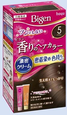【送料無料・まとめ買い×027】ホーユー ビゲン 香りのヘアカラー クリーム 5 ブラウン  ×027点セット(4987205051395)