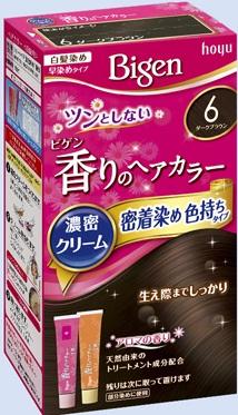 【送料無料・まとめ買い×027】ホーユー ビゲン 香りのヘアカラー クリーム 6 ダークブラウン  ×027点セット(4987205051401)