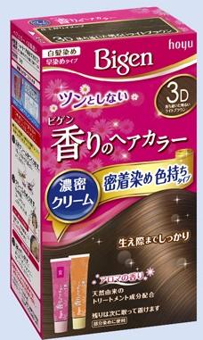 【送料無料・まとめ買い×027】ホーユー ビゲン 香りのヘアカラー クリーム 3D 落ち着いた明るいライトブラウン  ×027点セット(4987205051418)