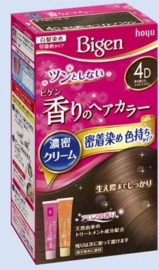 【送料無料・まとめ買い×027】ホーユー ビゲン 香りのヘアカラー クリーム 4D 落ち着いたライトブラウン  ×027点セット(4987205051425)