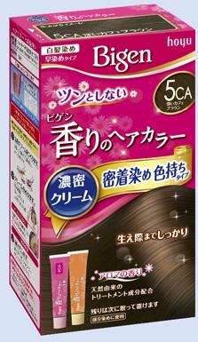 【送料無料・まとめ買い×027】ホーユー ビゲン 香りのヘアカラー クリーム 5CA 深いカフェブラウン  ×027点セット(4987205051470)