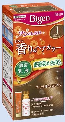 【送料無料・まとめ買い×027】ホーユー ビゲン 香りのヘアカラー 乳液 1 かなり明るいライトブラウン  ×027点セット(4987205052354)