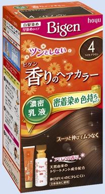 【送料無料・まとめ買い×027】ホーユー ビゲン 香りのヘアカラー 乳液 4 ライトブラウン  ×027点セット(4987205052385)