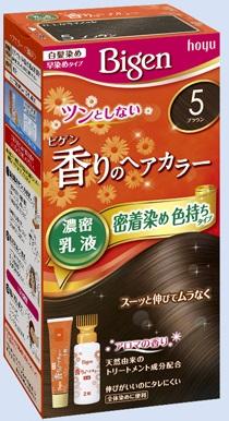 【送料無料・まとめ買い×027】ホーユー ビゲン 香りのヘアカラー 乳液 5 ブラウン  ×027点セット(4987205052392)