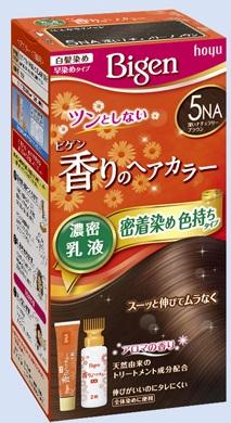【送料無料・まとめ買い×027】ホーユー ビゲン 香りのヘアカラー 乳液 5NA 深いナチュラリーブラウン  ×027点セット(4987205052453)