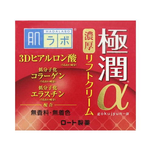 【送料無料・まとめ買い×048】ロート製薬 肌ラボ 極潤αリフトクリーム 50g 3Dヒアルロン酸配合クリーム ×048点セット(4987241148608)