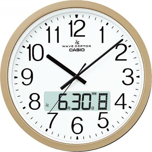 【送料無料】【直送・代引不可・同梱不可】カシオ 電波掛時計  IC-4100J-9JF