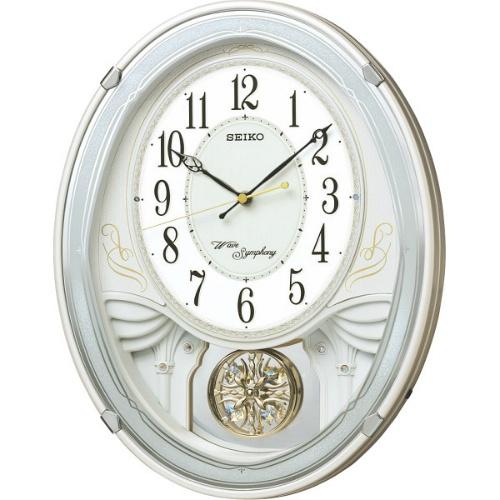 【送料無料】【直送・代引不可・同梱不可】セイコー メロディ電波掛時計(18曲入)  AM258W
