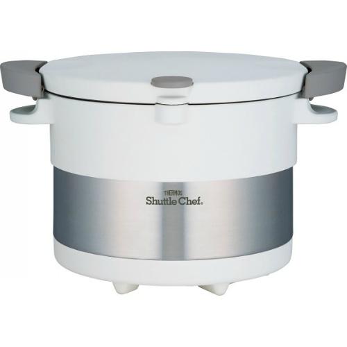 【送料無料】【直送・代引不可・同梱不可】サーモス 真空保温調理器 シャトルシェフ(20cm・3L) ピュアホワイト