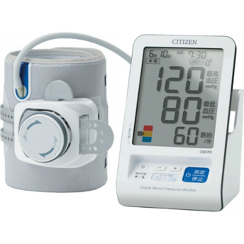【送料無料】【直送・代引不可・同梱不可】シチズン 上腕式血圧計  CHD701