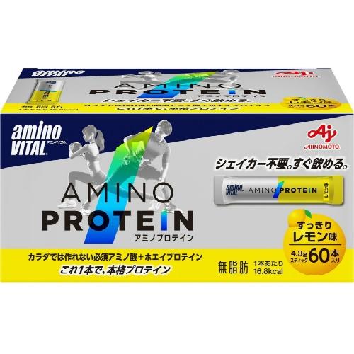 【まとめ買い×5】味の素 アミノバイタル アミノプロテイン レモン味 60本入 ※お取り寄せ商品せ品