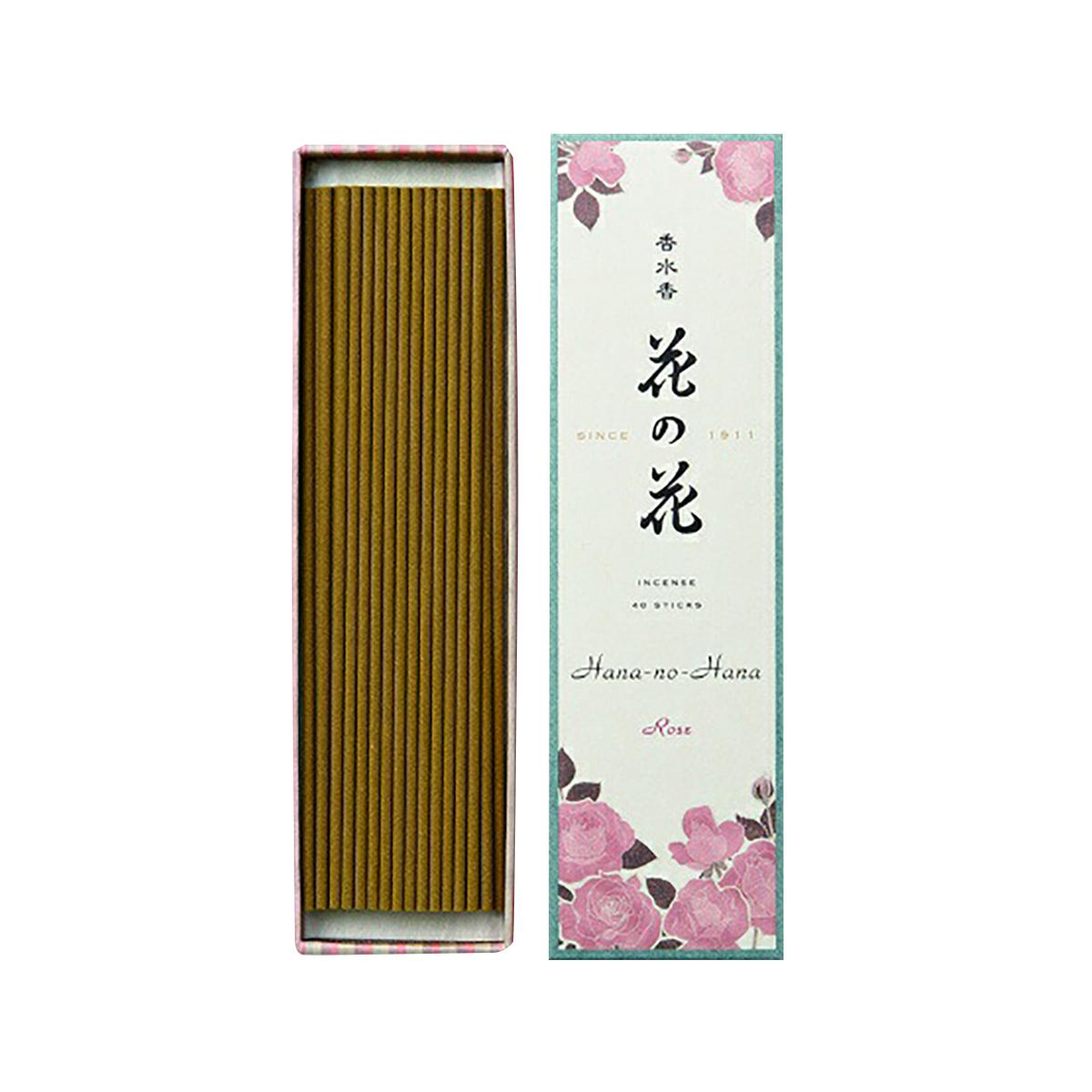 【送料無料・まとめ買い×006】日本香堂 香水香 花の花 ばら 長寸 40本入×006点セット(4902125300057)