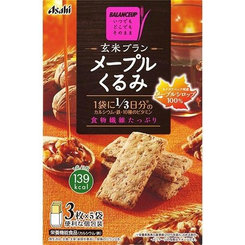 ※アウトレット品 4946842521012 お買い得 アサヒグループ食品 バランスアップ メープルくるみ 玄米ブラン 3枚×5袋