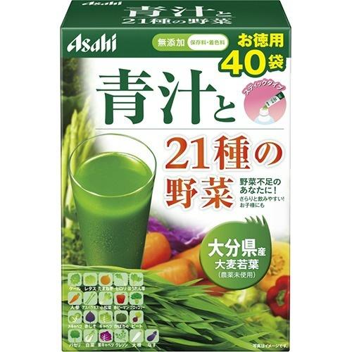 【送料無料・まとめ買い×10】アサヒ 青汁と21種の野菜 3.3g×40袋