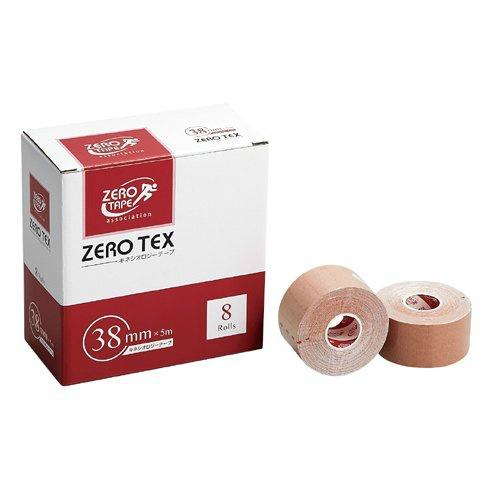【送料無料・まとめ買い×10】日進医療器 ZERO テックス キネシオロジーテープ 38mm×5m 8巻入