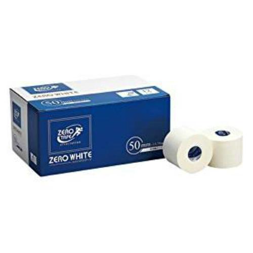 【まとめ買い×5】日進医療器 ZERO ホワイトテープ 非伸縮タイプ 50mm×13.75M 12巻入
