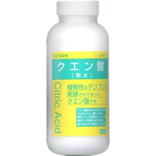 大洋製薬 食品添加物 クエン酸 おしゃれ 無水 500g 植物性のデンプンを原料とし製造されたもの 結晶 お料理 おそうじなどに 一部予約 ジュースの味付け しそジュースやポット洗浄に最適 4975175020176