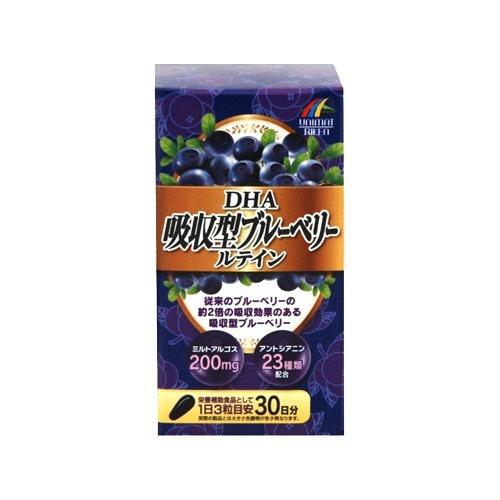 【送料無料・まとめ買い×10】ユニマットリケン DHA 吸収型 ブルーベリールテイン 90粒入