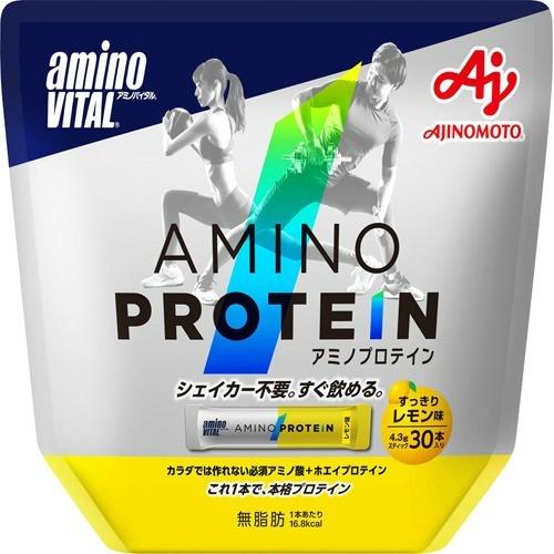 【送料無料・まとめ買い×3個セット】味の素 アミノバイタル AMINO VITAL アミノプロテイン レモン 30本入